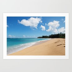 Tunnels beach Art Print