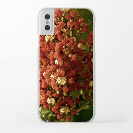 Christmas Crepe Tree Clear iPhone Case