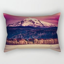 Mt Hood on Columbia River Rectangular Pillow