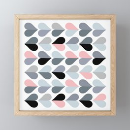 Love and Kisses in Pink and Grey Framed Mini Art Print