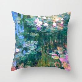 water lilies : Monet Deko-Kissen