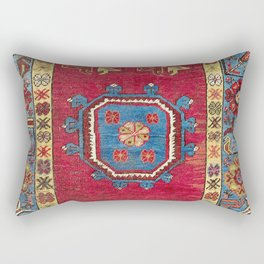 Ladik  Antique Turkish Village Niche Carpet Print Rectangular Pillow