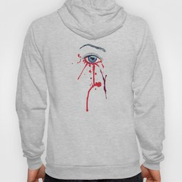 Blue eye with red paint Hoody