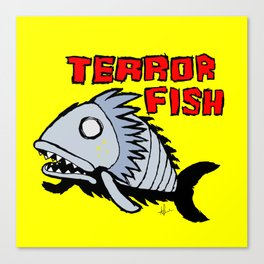 Terror fish Canvas Print