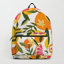 Grapefruit Blooms – Pink & White Backpack