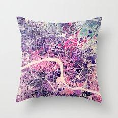 London Mosaic Map #2 Throw Pillow