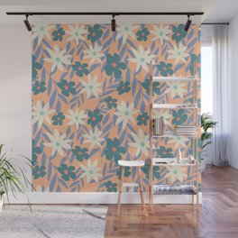 Just Peachy Floral Wall Mural