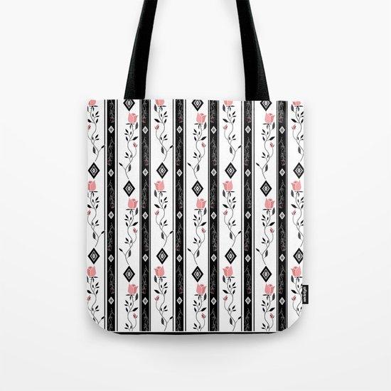 Retro pattern. Roses. Tote Bag