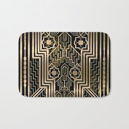Art Nouveau Metallic design Bath Mat