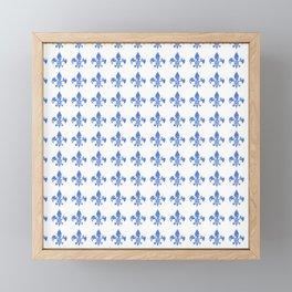 French Blue fleur di li Framed Mini Art Print
