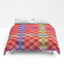 Pattern squares orange Comforters