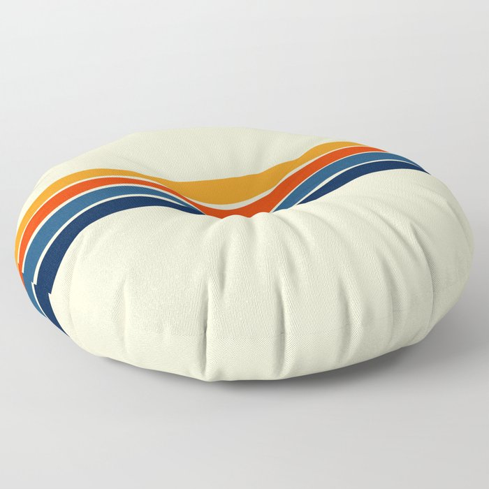 Classic Retro Stripes Floor Pillow