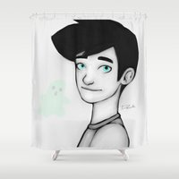 danny haas Shower Curtains featuring Danny Fenton by Dante Blue