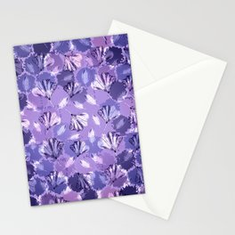 Mosaic Ginkgo (Ultra-Violet) Stationery Cards