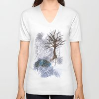 climbing V-neck T-shirts featuring Tree Climbing by Ericaphant