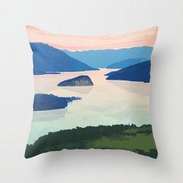Shuswap Lake Provincial Park Throw Pillow
