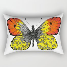 Svadhisthana Manipura Butterfly 1 Rectangular Pillow
