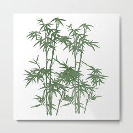 Simply Bamboo Metal Print