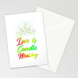 Love Is Candle Making Colorful Stationery Cards