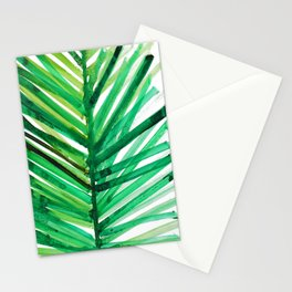 watercolor lines palm leaf 4 Stationery Cards