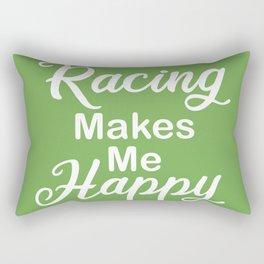 Racing Makes Me Happy Rectangular Pillow