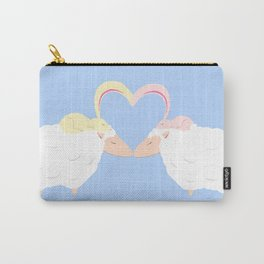 Animal Love: Sheep & Bunnies Carry-All Pouch