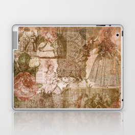Vintage & Shabby Chic - Victorian ladies pattern Laptop & iPad Skin