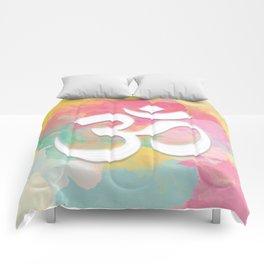 Crown Chakra Symbol & Delicate Watercolor Comforters
