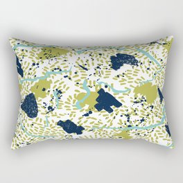 Trenton - modern minimal abstract painterly palette urban brooklyn cali city beach painting dorm  Rectangular Pillow