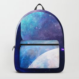Galaxy Moon Space Backpack