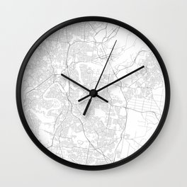 Brisbane, Australia Minimalist Map Wall Clock