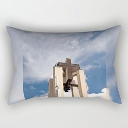 High church turret cross symbol Rectangular Pillow