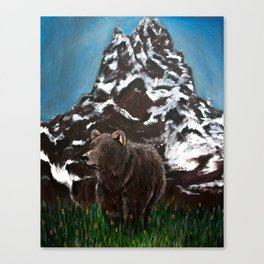 Home in the Tetons Canvas Print
