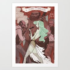 The Jenny Hanivers gig poster Art Print