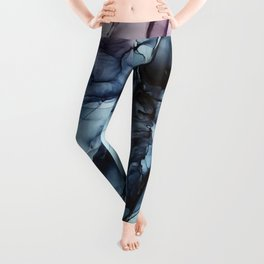 Blush and Darkness Abstract Paintings Leggings