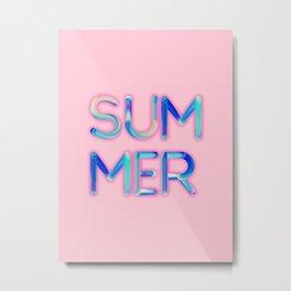 Pink Summer Metal Print