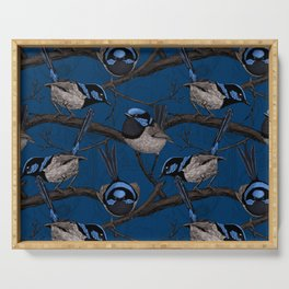 Night fairy wrens  Serving Tray
