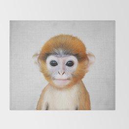 Baby Monkey - Colorful Throw Blanket