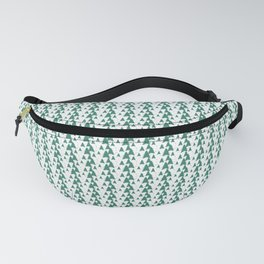 Green Christmas Tree Pattern Fanny Pack