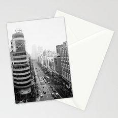 Gran Via in Madrid Stationery Cards