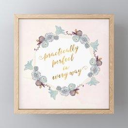 Practically Perfect Framed Mini Art Print