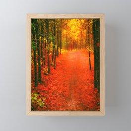 Red and Orange Autumn Framed Mini Art Print