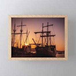 A sailer in the bay of Senj, Croatia Framed Mini Art Print