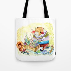Capybara and his succulent garden. Tote Bag