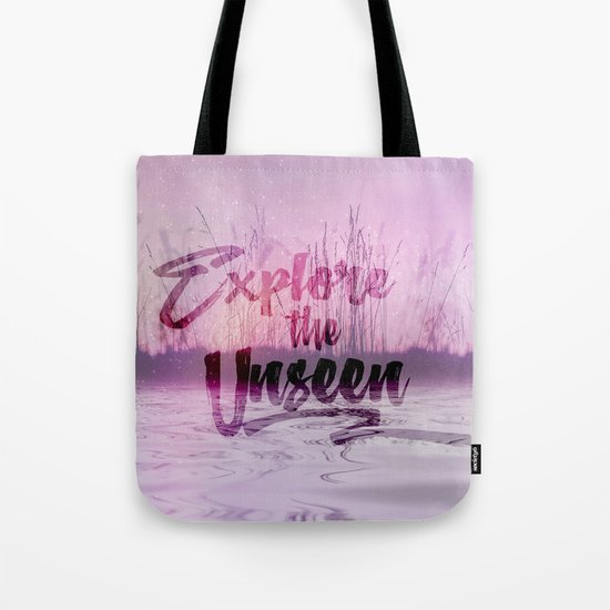 Explore the Unseen calm Water Tote Bag