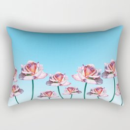 Roses and little frogs Rectangular Pillow
