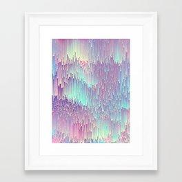 Iridescent Glitches Framed Art Print
