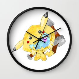 Poppychu - Black Outline No Sign Wall Clock