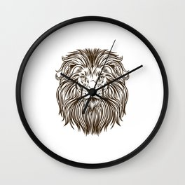 Lion head drawing wild african lion Wall Clock