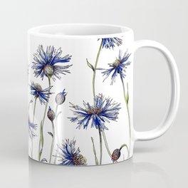 Blue Cornflowers, Illustration Coffee Mug